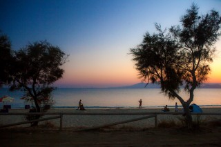 maragas beach sunset naxos