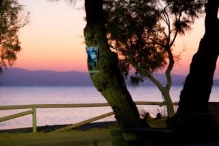 sunset colors naxos