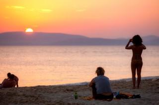sunset naxos