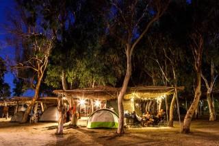 evening at camping maragas beach