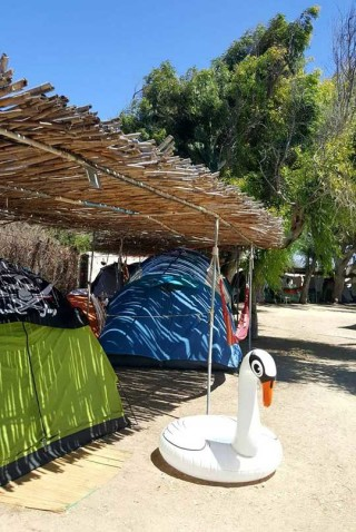 camping area maragas tents