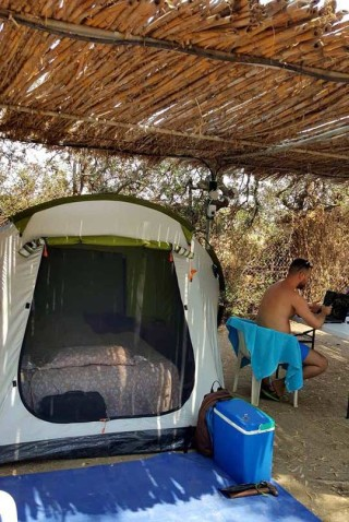 camping area maragas the tents