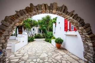 apartments entrance maragas beach