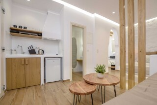 superior studio maragas kitchenette area